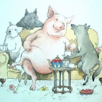 Three Little Pigs and Its Postmodern/Fractured Variations in Picture Books: Varying Shades of Huffs and Puffs