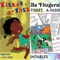 A-tisket A-tasket by Ella Fitzgerald and Van Alexander as Illustrated by Ora Eitan