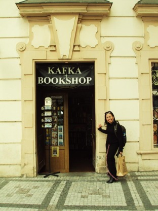 Kafka Bookshop right beside the Kafka Museum