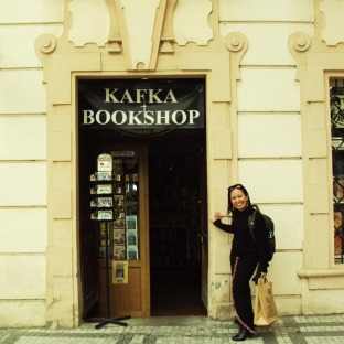 Kafka Bookshop right beside the Kafka Museum