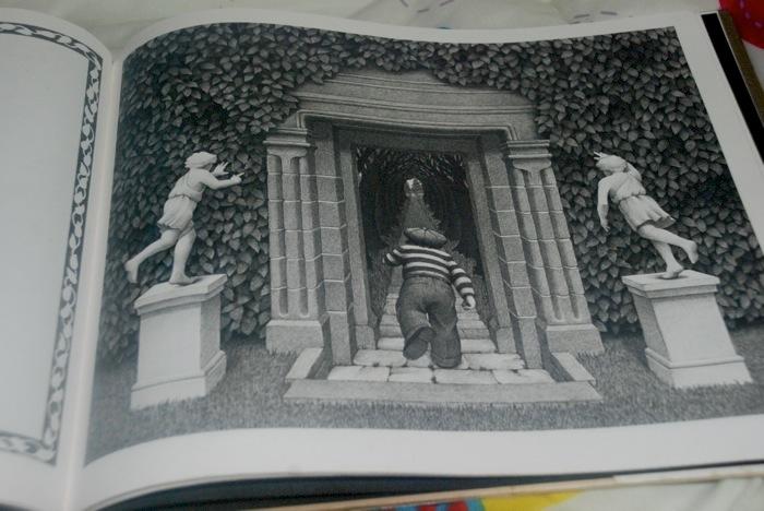 Reminded me a little bit of The Secret Garden by Frances Hodgson Burnett... only a little darker and more sinister.
