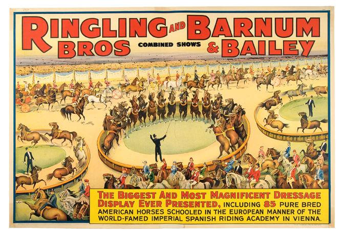 Ringling bros poster