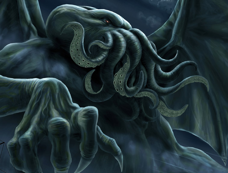 Cthulhu (kuh-THOO-loo). Click on the image to be taken to the websource.
