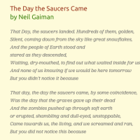 Poetry Friday: The Day the Saucers Came by Neil Gaiman