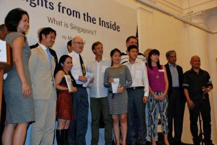 With the Editor, David Fedo and all the other essay contributors who were able to make it during the launch.