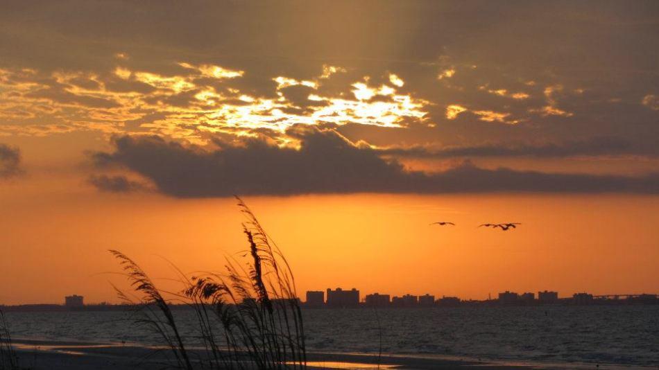 Sunset at Sanibel Island.