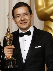Melbourne artist Shaun Tan won the Oscar for Best Animated Short Film award for The Lost Thing. Pic: AP Photo/Matt Sayles Source: AP.