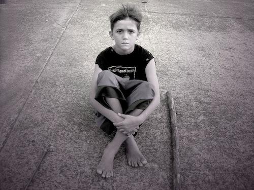 7. The Mestizo Boy in Black Shirt, 2012, by Danny C. Sillada