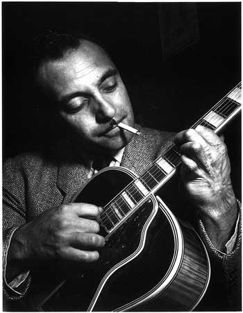 The real Django Reinhardt - click on the image to be taken to the websource.