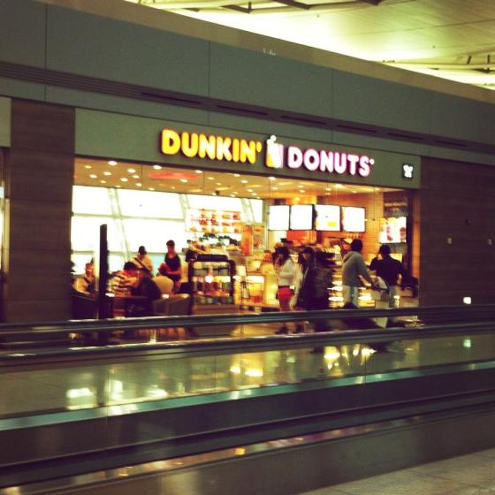 If you live in a city like San Diego where Dunkin' Donuts are hard to come by, they have it here! Yum!