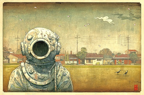 From Shaun Tan's Tales from Outer Suburbia. Image taken from Shaun's official website. Click on the image to be taken to the websource.