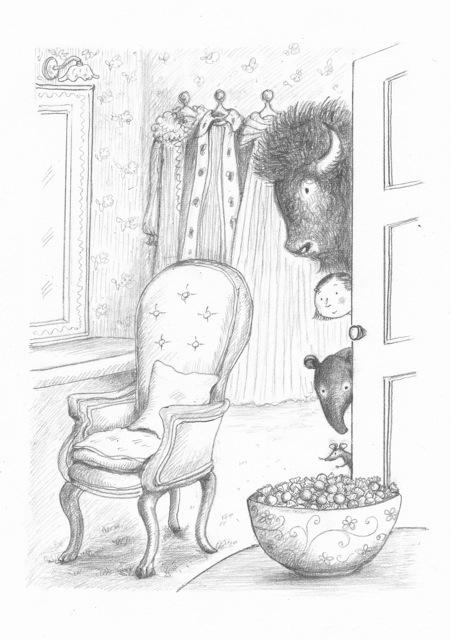 Naomi Kojima's original illustration: Princess Tapir