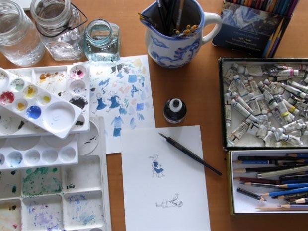 Naomi's work desk.