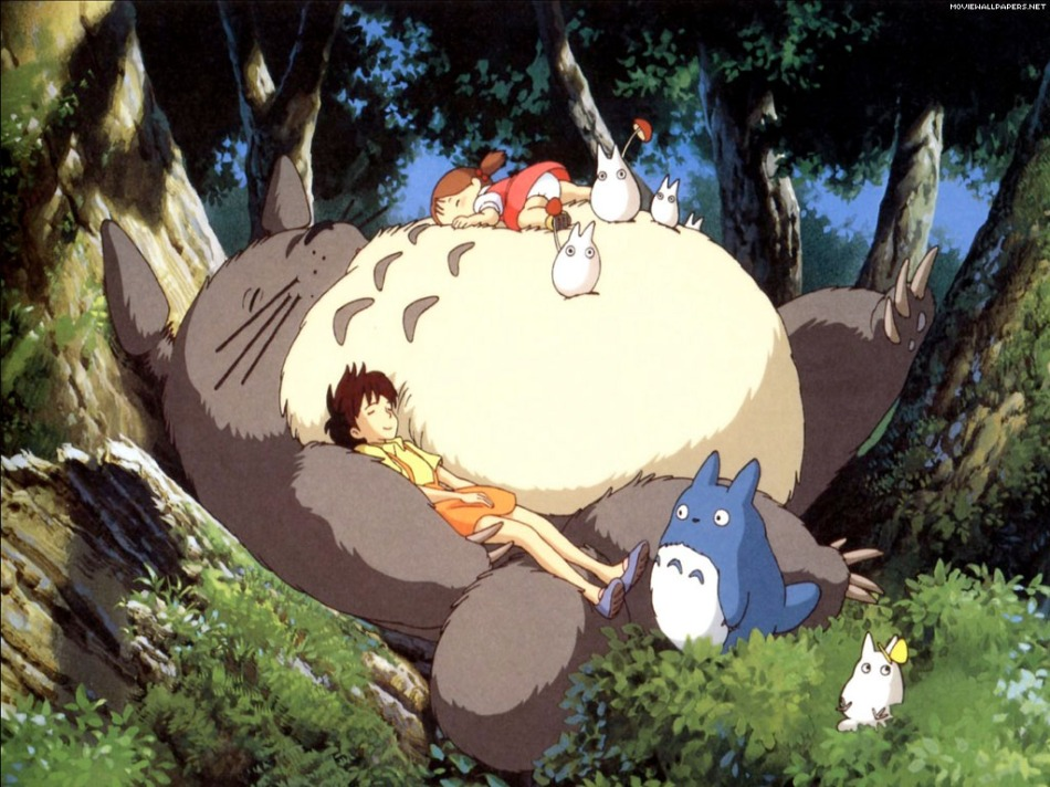Totoro with Satsuki adn Mei. Click on the image to be taken to the websource.