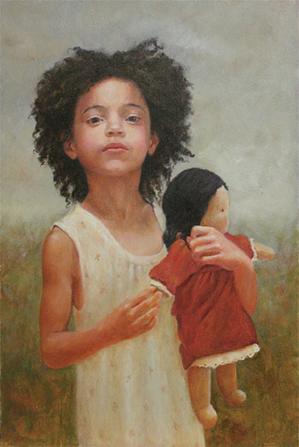 Afri with Doll, done in oil. This reminded me of the little girl from the movie, Beasts of the Southern Wild. Click on the image to be taken to the websource.