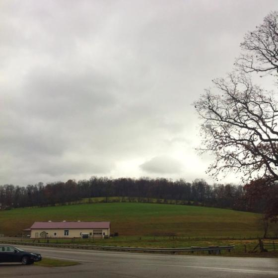 This photo was taken right across the Guggisberg Cheese Shop in Ohio.