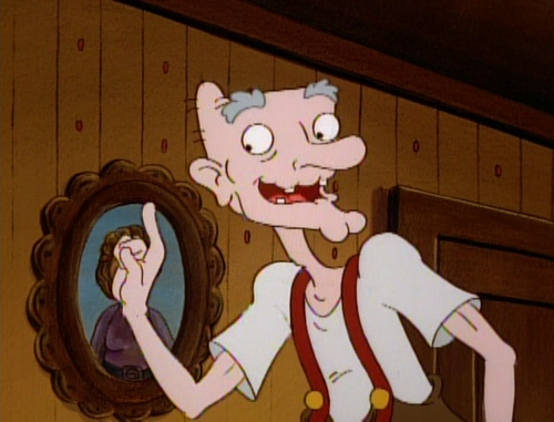 Magpie's Grandpa reminds me a little of Arnold's grandpa in the cartoon series, Hey Arnold! Click on the image to be taken to the websource.