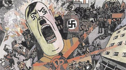 Das Dritte Reich, 1934. Illustrated by Heinrich Vogeler. Click on the image to be taken to the websource.