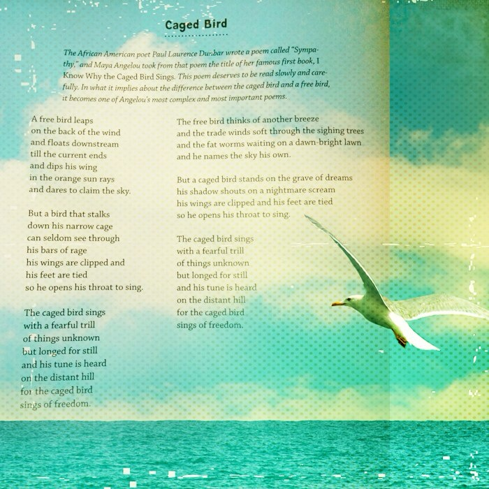 Poetry Friday] Caged Bird by Maya Angelou – Gathering Books