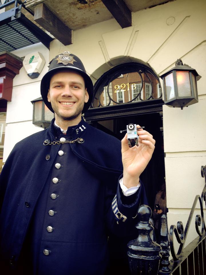 Watson caught at the London Book Fair.