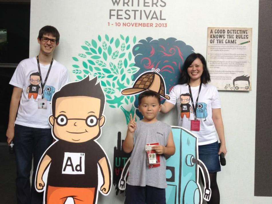 At the Singapore Writers Festival's Sherlock Sam Treasure Hunt.