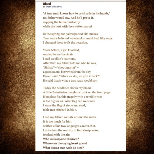 "explication poem making fist naomi shihab nye In naomi shihab nye's poem ""alphabet,"" a speaker describes the loss of some of their older neighbors pair ""making a fist"" with ""alphabet"" and ask students to discuss how naomi shihab nye explores themes of mortality in the two poems."