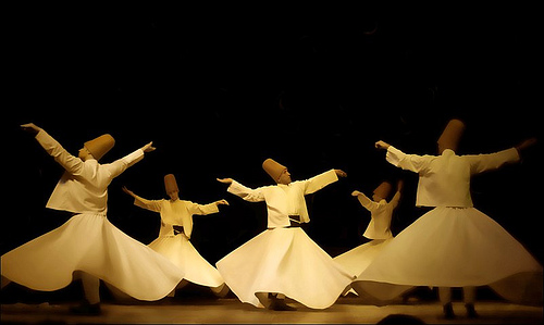 An whirling dervish ceremony.