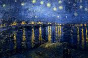 """""""Starry Night Over the Rhone"""" by Vincent Van Gogh."""