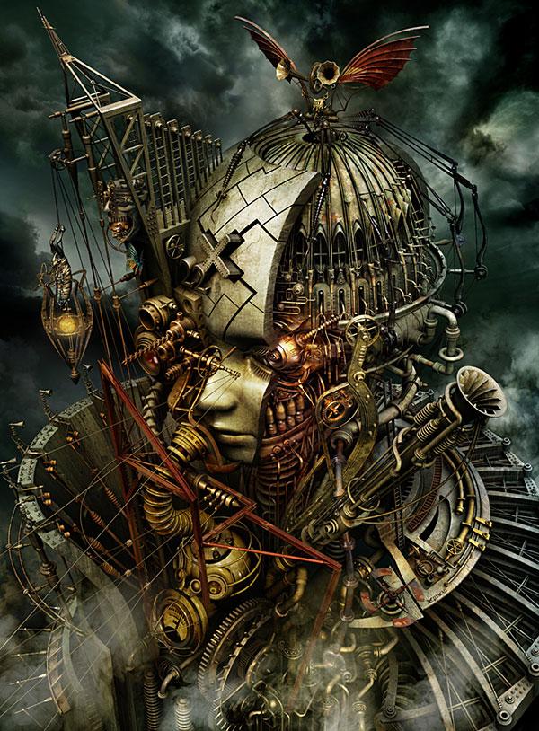 Amazing digital steampunk art by Kazuhiko Nakamura.