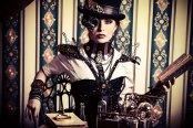 Steampunk woman. Photography by Luria-XXII on DeviantArt.