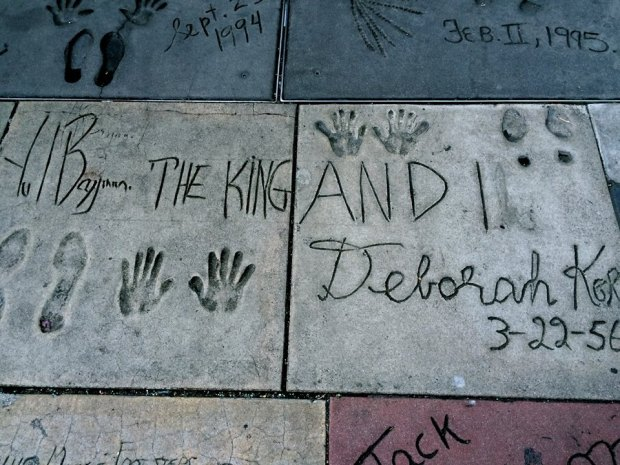 Celebrity handprints book
