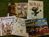 http://gatheringbooks.org/2015/02/23/monday-reading-boys-in-2014-picturebooks-from-ninja-to-troublemakers-kid-sheriffs-and-messed-up-stories-plus-bad-byes-too/