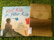 http://gatheringbooks.org/2015/05/04/monday-reading-of-camels-and-kites-the-camel-in-the-sun-and-red-kite-blue-kite/