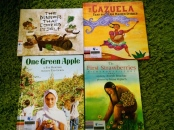 http://gatheringbooks.org/2015/07/20/monday-reading-cherokee-strawberries-a-maidens-cazuela-one-green-apple-and-a-chinese-dinner-that-cooked-itself-picturebooks-that-celebrate-diversity-in-meals-and-cultural-traditions/
