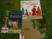 http://gatheringbooks.org/2015/08/24/monday-reading-award-winning-picturebooks-that-feature-hunting-geraghtys-the-hunter-grieving-czekelys-rahui-and-finding-faith-deep-in-the-sahara/