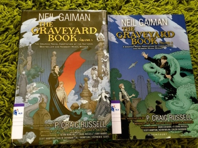 https://gatheringbooks.org/2015/09/28/monday-reading-graphic-novel-adaptations-of-gaimans-the-graveyard-book-by-p-craig-russell/