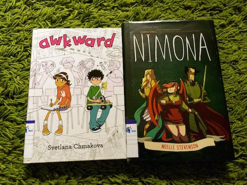 https://gatheringbooks.org/2015/10/12/monday-reading-monstrous-awkwardness-of-tweendom-captured-in-middle-grade-novels-awkward-and-nimona/