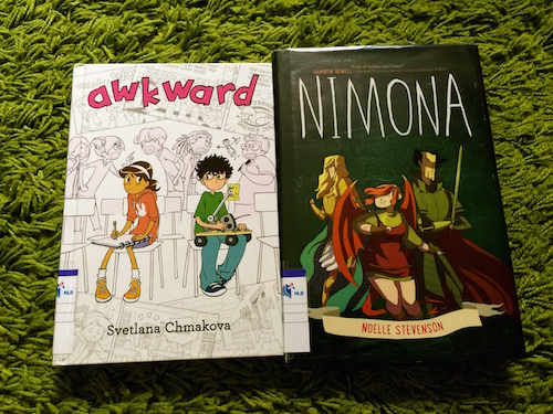 https://gatheringbooks.org/2015/10/12/monday-reading-monstrous-awkwardness-of-tweendom-captured-in-middle-grade-novels-awkward-and-nimona/