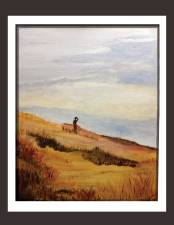 In Surrender to Vastness (Acrylic on Canvas)  Painting by Author
