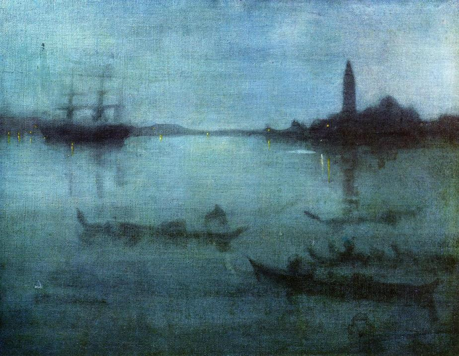 Nocturne in Blue by Whistler (One of my favorite aritsts)