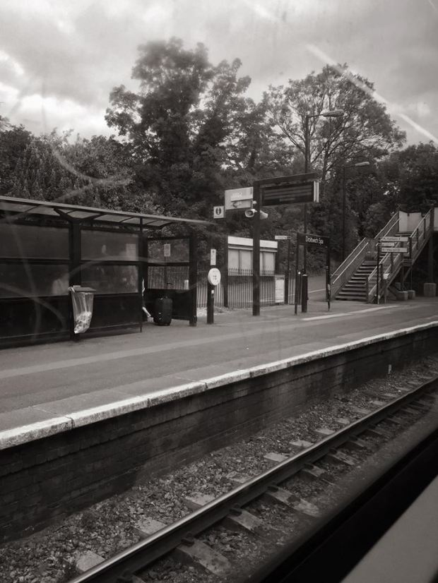 Seemingly abandoned train station at the University of Worcester in Birmingham.