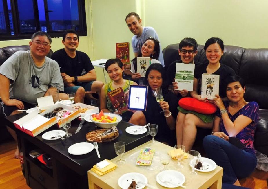 Saturday Night Out for Book Geeks discussing Bone Gap by Laura Ruby and Lumberjanes!