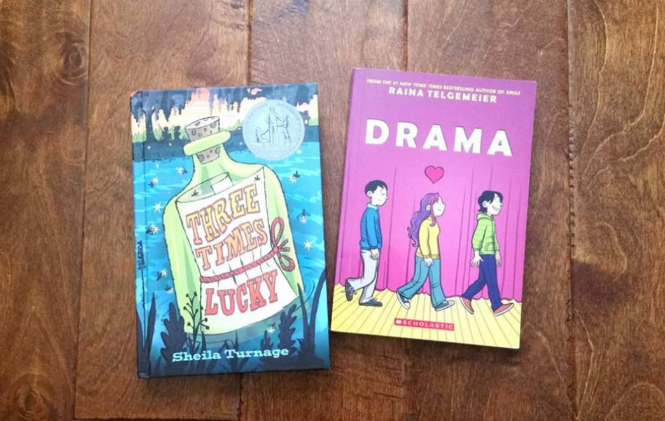 Bhe 219 book buying spree part 1 gathering books three times lucky by sheila turnage drama by raina telgemeier fandeluxe Gallery