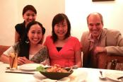 With local author Adeline Foo, Peter Lerangis, and Jasmine who is behind me.