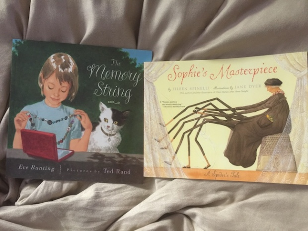 Bhe 246 more multicultural picturebook titles and then some the memory string by eve bunting and ted rand sophies masterpiece by eileen spinelli and jane dyer sciox Images