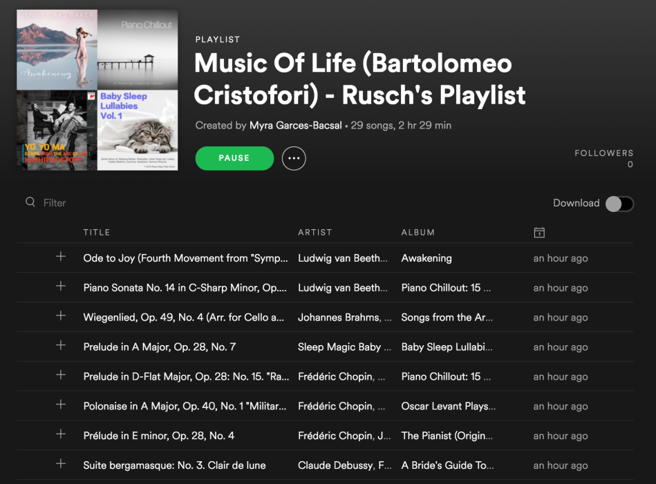 Nonfiction Wednesday] The Origins of the Pianoforte in Rusch and